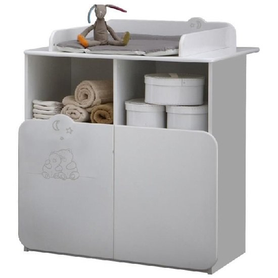 Prague Childrens Chest of Drawers In White With Changing Unit