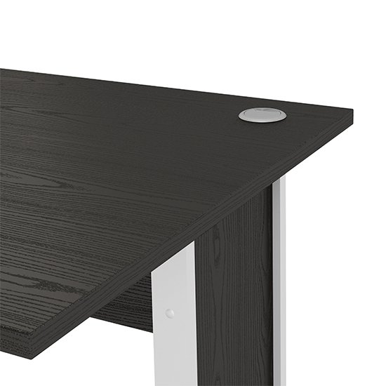 Prax 120cm Computer Desk In Black With White Legs_3