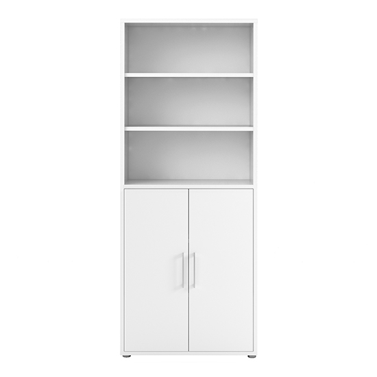 Prax 2 Doors 5 Shelves Office Storage Cabinet In White_2