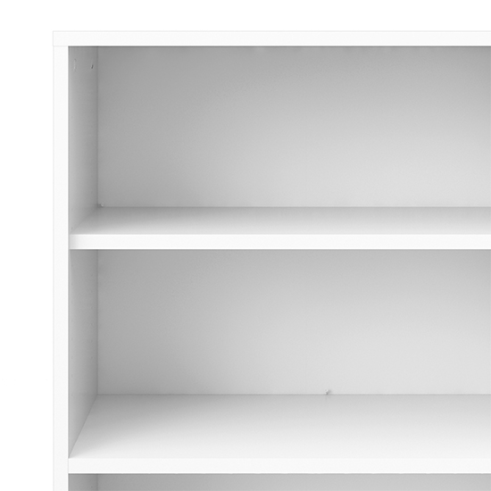 Prax 2 Doors 5 Shelves Office Storage Cabinet In White_4