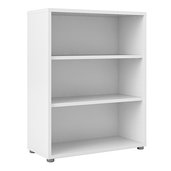 Prax 2 Shelves Open Home And Office Bookcase In White
