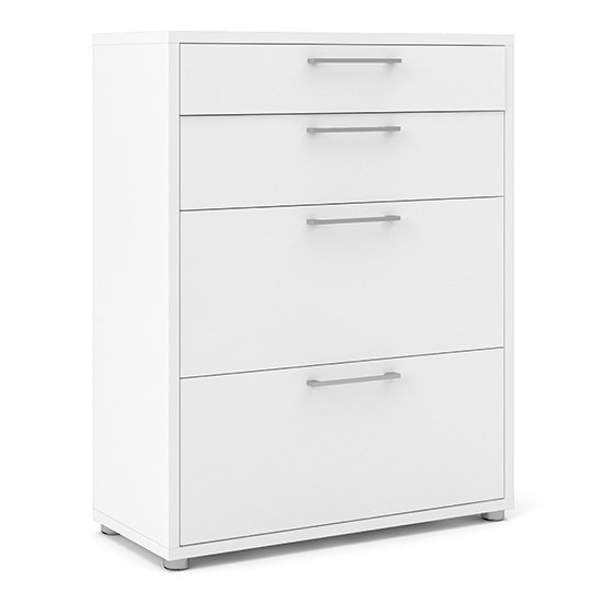 Prax 4 Drawers 2 Shelves Office Storage Cabinet In White