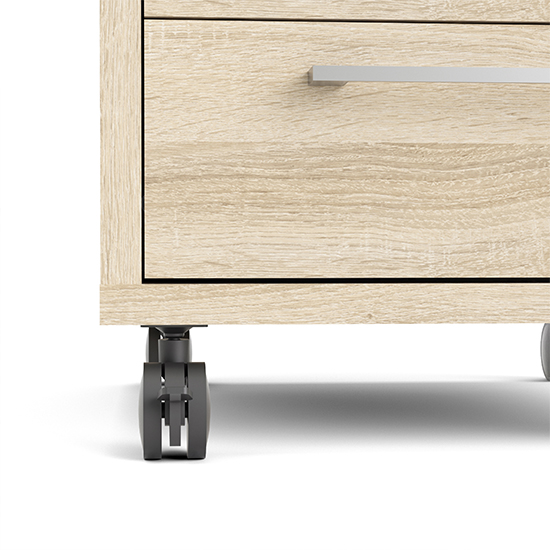 Prax Mobile Office Pedestal In Oak With 4 Drawers_6