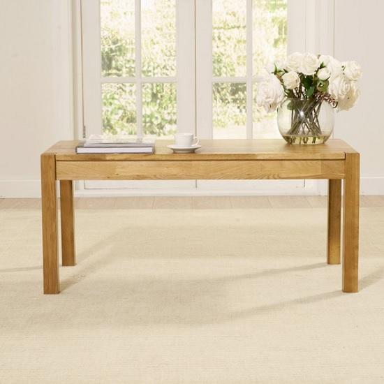 Presley Wooden Coffee Table Rectangular In Solid Oak