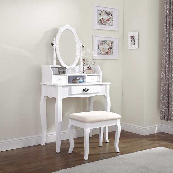 Prestige Contemporary Dressing Table Set In White
