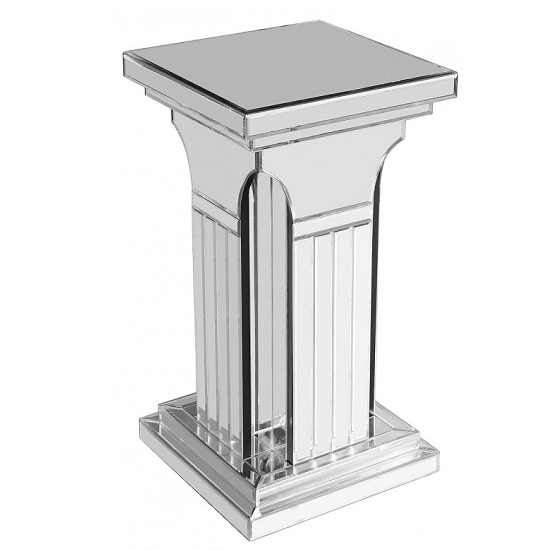 Preston Small Mirrored Column Pedestal