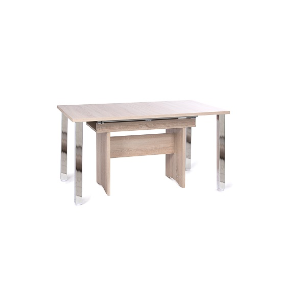 Primo Wooden Extendable Dining Table In Sonoma Oak