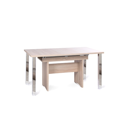 Primo Wooden Extendable Dining Table In Sonoma Oak 30182 : primodiningtableoak3 from www.furnitureinfashion.net size 550 x 550 jpeg 39kB