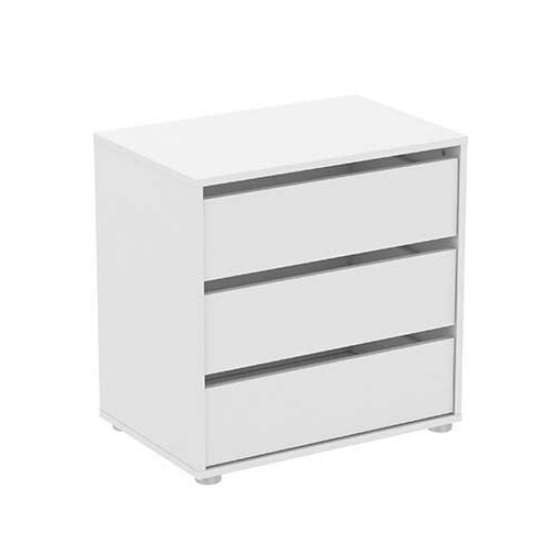 Primrose Chest Of Drawers In Matt White With 3 Drawers