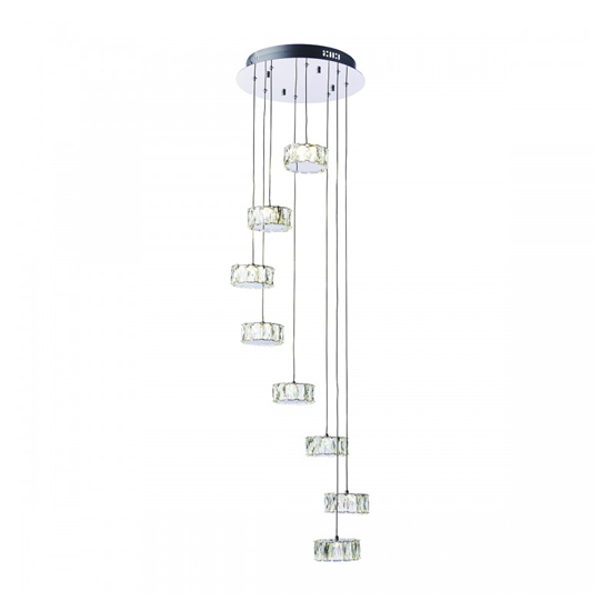 Prisma 8 Cluster Pendant Light With Cool White Bulb