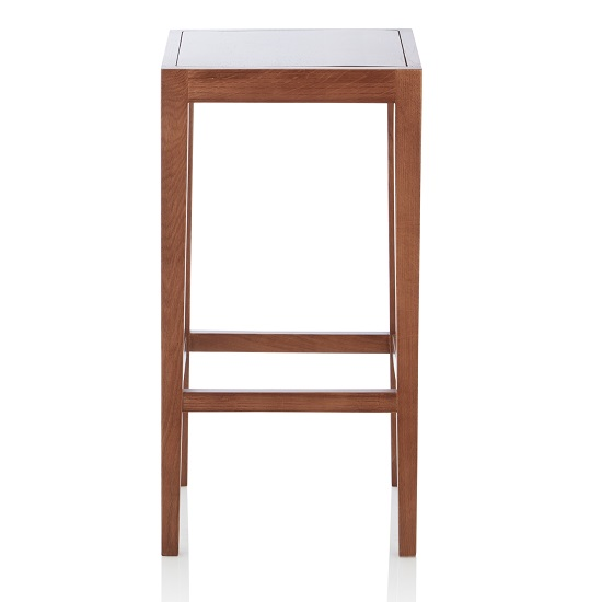 Proctor Wooden Bar Stool Square In Walnut