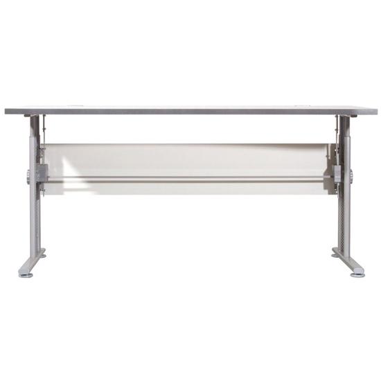 View Profi large laptop desk in light grey