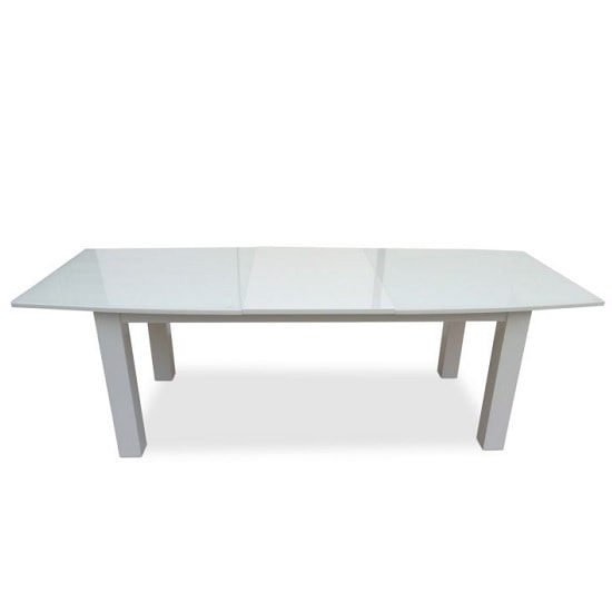 Promo Extendable Glass Dining Table With White High Gloss_2