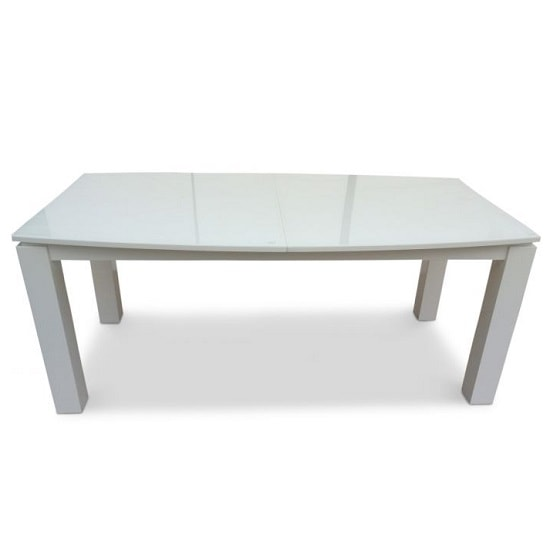 Promo Extendable Glass Dining Table With White High Gloss_1