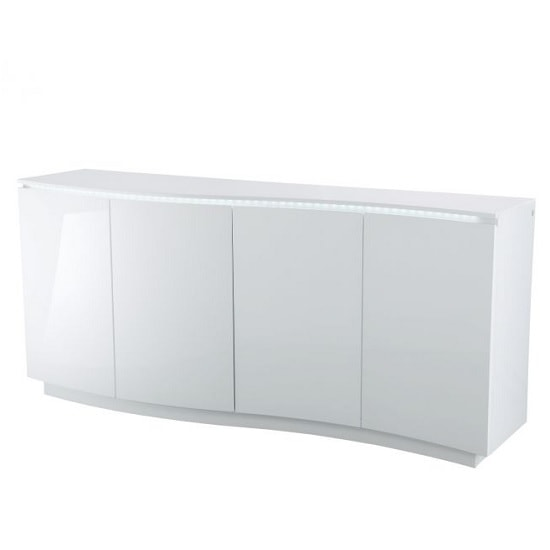 Promo Contemporary Sideboard In White High Gloss With LED