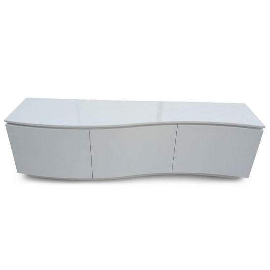 Promo Contemporary TV Stand In White High Gloss With LED_1