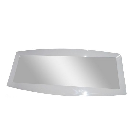 Promo Wall Mirror Rectangular In White High Gloss