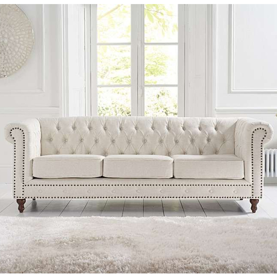 Propus Linen 3 Seater Sofa In Ivory_2