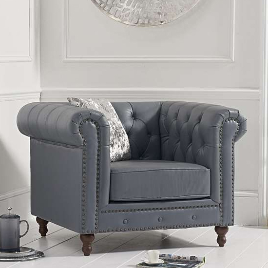 Propus Lounge Chaise Armchair In Grey
