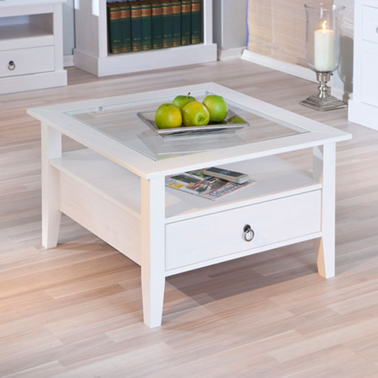 white wooden square coffee table. coffee tables. kubo white square