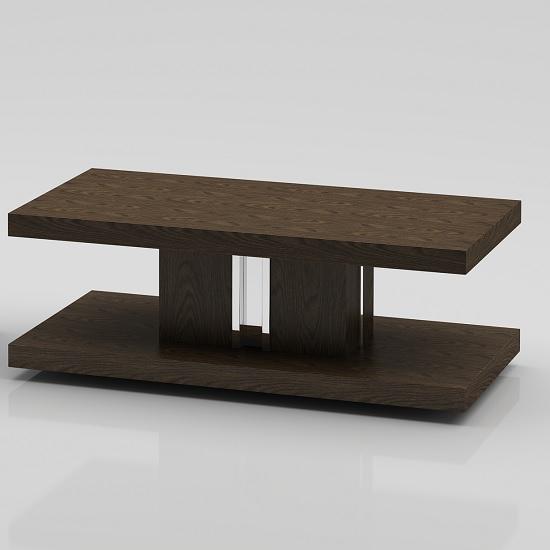 Provence Wooden Coffee Table In Dark Elm Veneer