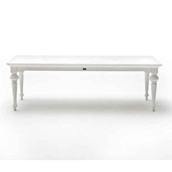 Proviko Large Wooden Dining Table In Classic White_2