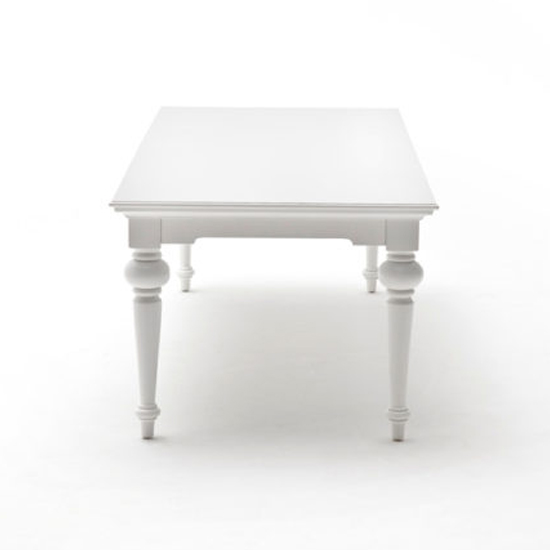 Proviko Large Wooden Dining Table In Classic White_3