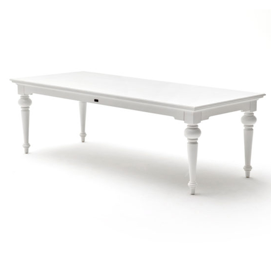Proviko Large Wooden Dining Table In Classic White_1
