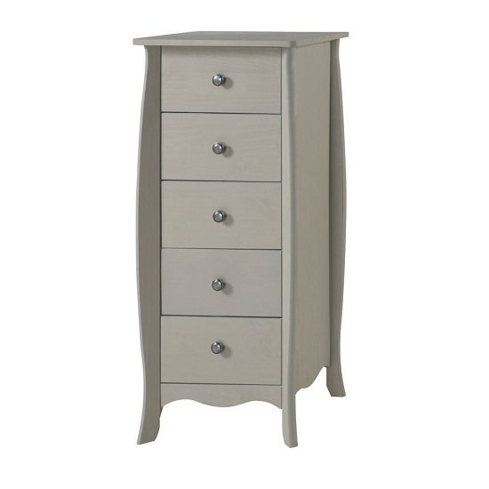 Province Narrow Chest Of Drawers In Grey Finish