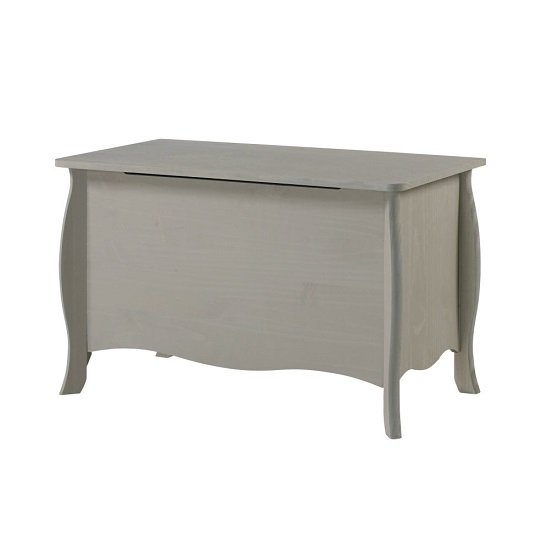 Province Wooden Storage Trunk In Grey Finish
