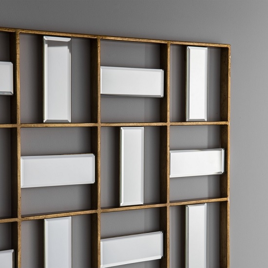 Province Wall Mirror Rectangular In Gold Finish_2