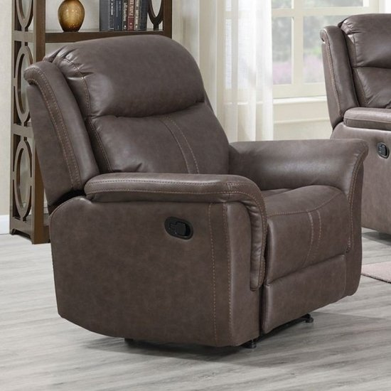 Proxima Fabric Lounge Chaise Armchair In Rustic Brown
