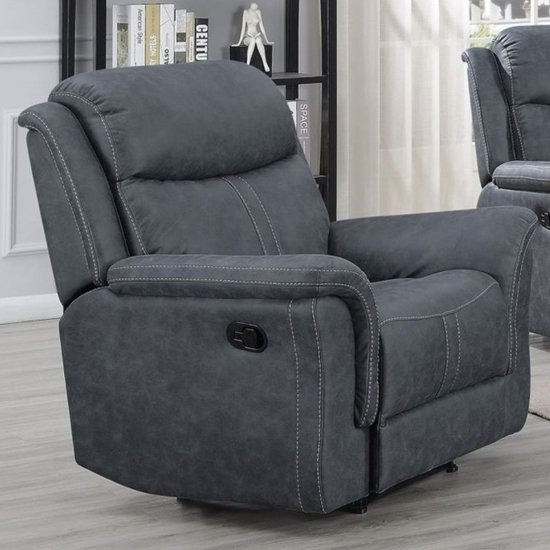 Proxima Fabric Lounge Chaise Armchair In Slate Grey_1