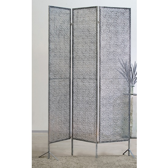 Read more about Purley metal room divider in antique silver
