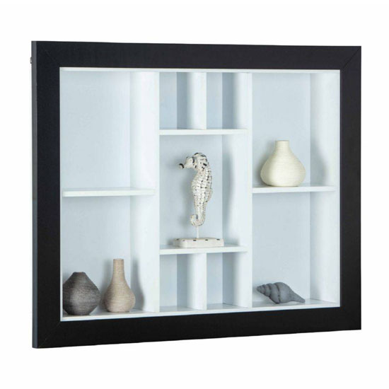 Quarium Wooden Display Cabinet In Black And White_1