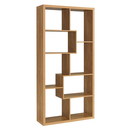 Quinto Solid Oak Finish Shelving Unit_1