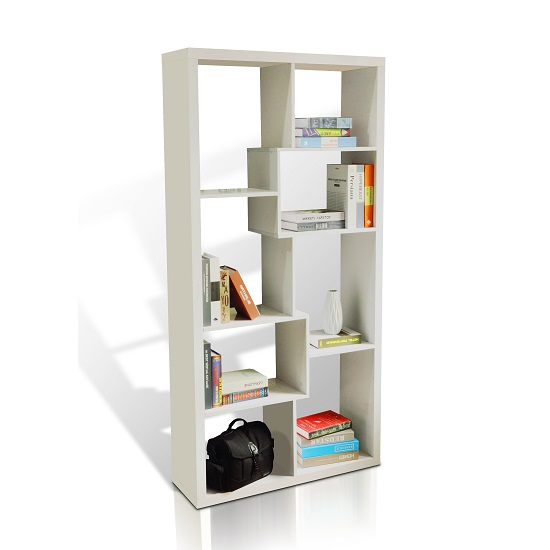 Quinto Modern Shelving Unit In White High Gloss_1