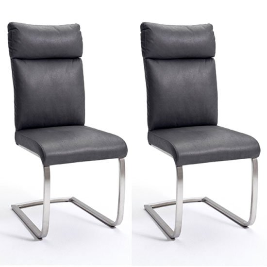 Rabea Grey Fabric Dining Chair In A Pair_1