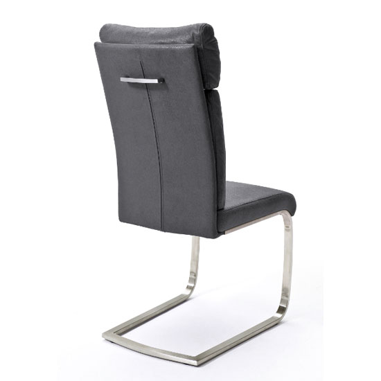 Rabea Fabric Dining Chair In Grey_2