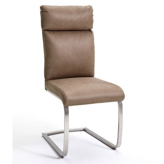 Rabea Fabric Dining Chair In Sand