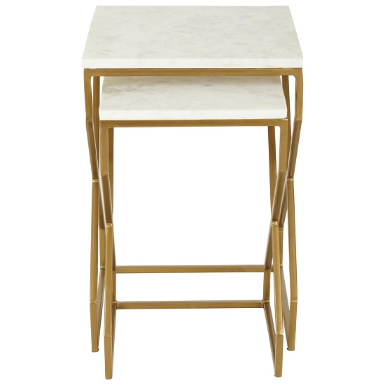 Rabia Set Of 2 Nesting Side Tables With White Marble Top_3