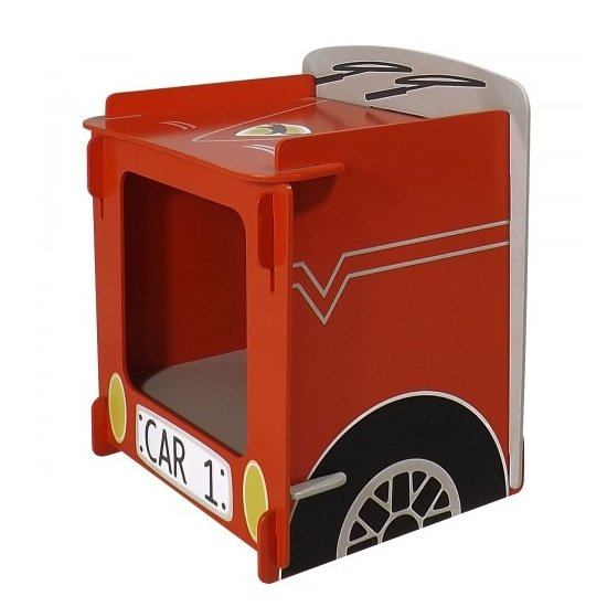 Racing Car Bedside Cabinet In Red_1