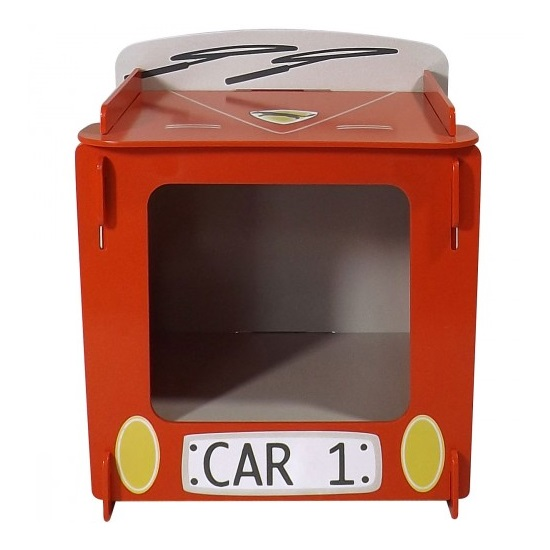 Racing Car Bedside Cabinet In Red_2