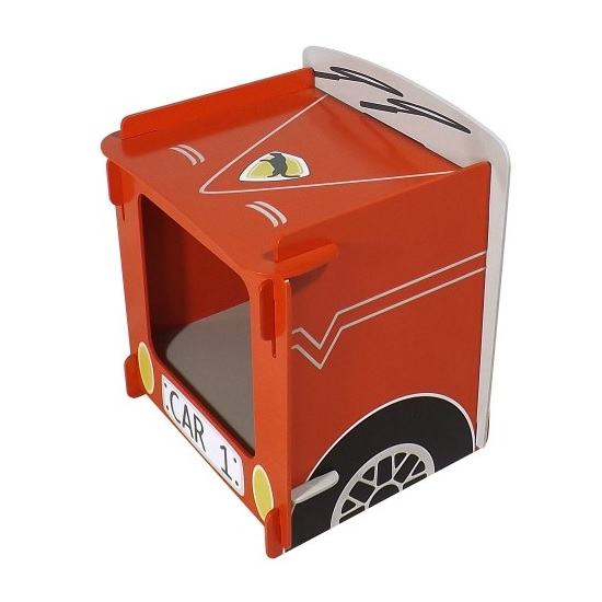 Racing Car Bedside Cabinet In Red_3