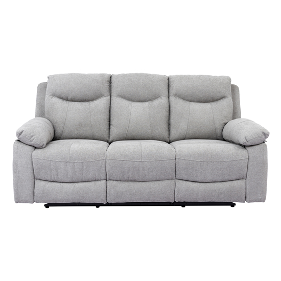 Radcliff Chenille Fabric Recliner 3 Seater Sofa In Grey_1