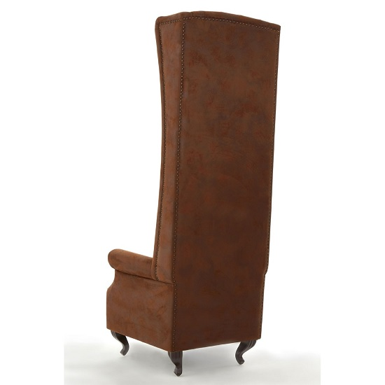 Radisson Tall Porter Chair In Brown With Wooden Legs_2