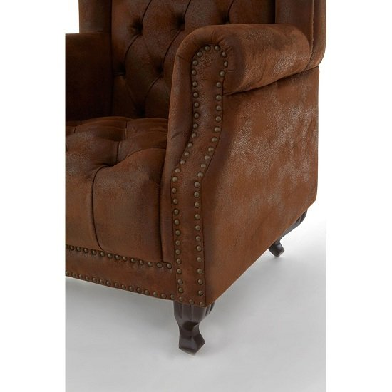 Radisson Tall Porter Chair In Brown With Wooden Legs_4