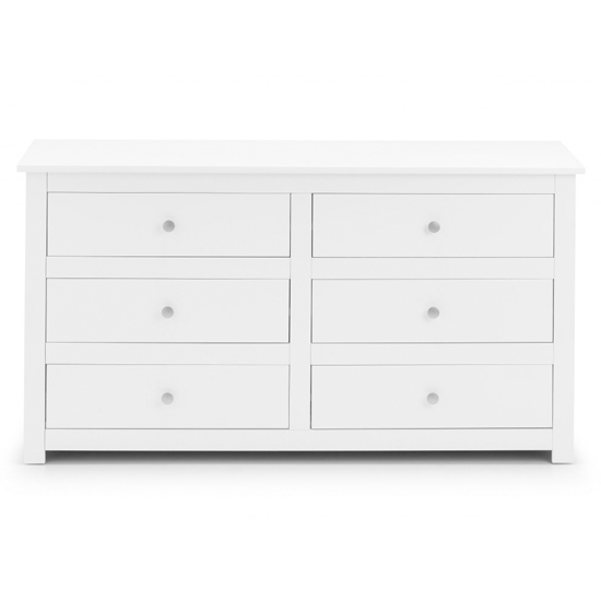 Radley Wide Chest Of Drawers In Surf White With 6 Drawers_3