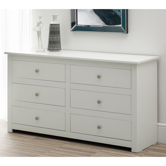 Radley Wide Chest Of Drawers In Surf White With 6 Drawers_1