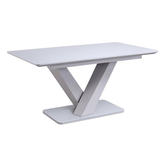 View Rafael extending wooden dining table in matt light grey